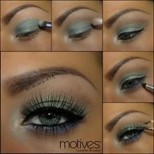 Makijaże zielone oczy.