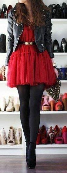 Czerwona sukienka na sylwestra + dodatki