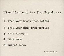 Pięć prostych przepisów na szczęście