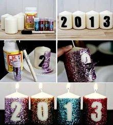 brokatowe świeczki