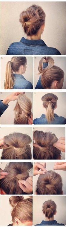 szybkie i proste upięcie włosów