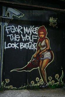 Strach sprawia, że wilk wygląda na większego