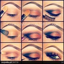 piękny wieczorowy makijaż ;)