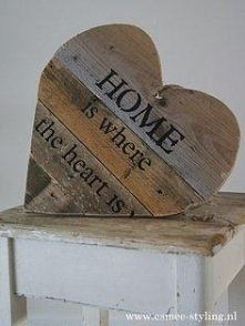 drewniane serce