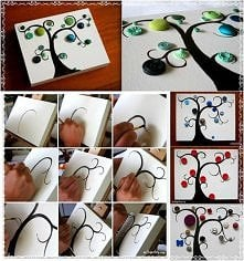diy, button tree, instructions, handmade