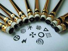 stempelki z gumek z ołówka