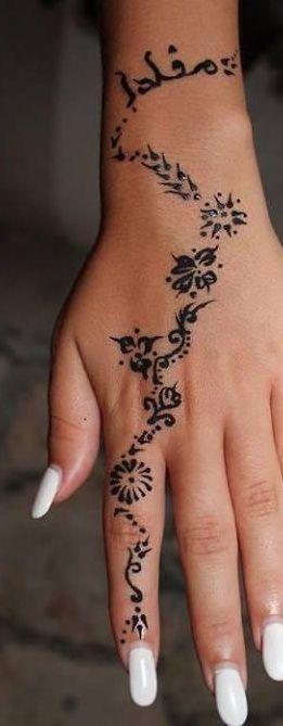 Henna Tatuaż Na Wzory Tatuaży Zszywkapl