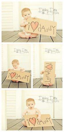 Prosty i słodki pomysł na zdjęcia dziecięce :)