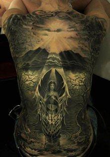 anioły tatuaże