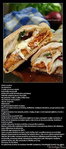 Chlebek imprezowy z kurczakiem i sosem barbecue