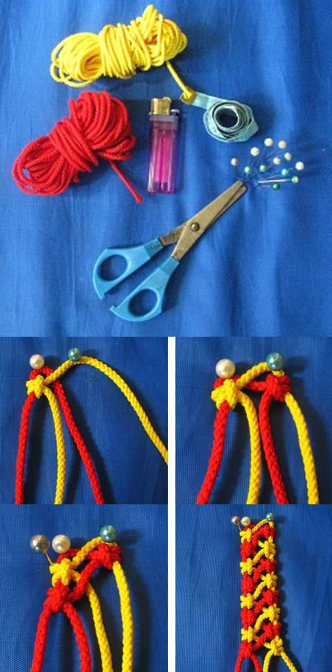 diy, chain of nodes, instructions, knot