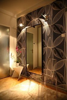 lustro,oświetlenie, tapeta