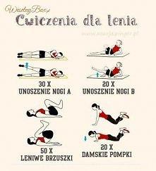 ćwiczenia dla lenia
