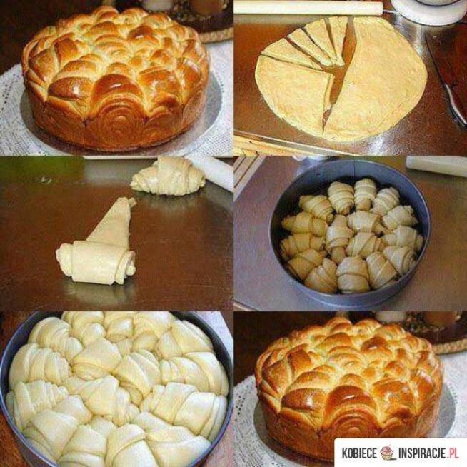 Pomysłowe ciasto drożdżowe