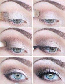 makijaż, kreska, make up, cień, eye liner, eye shadow