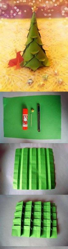 DIY paper christmas tree  P...