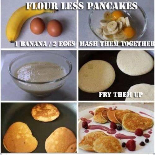 Nalesniki z bananow i z jajek.Polecam!
