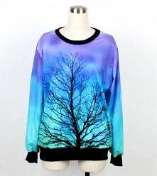 Bluza nadruk 3d drzewo