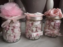 własne cukiereczki pudrowe :) Walentynkowo :)