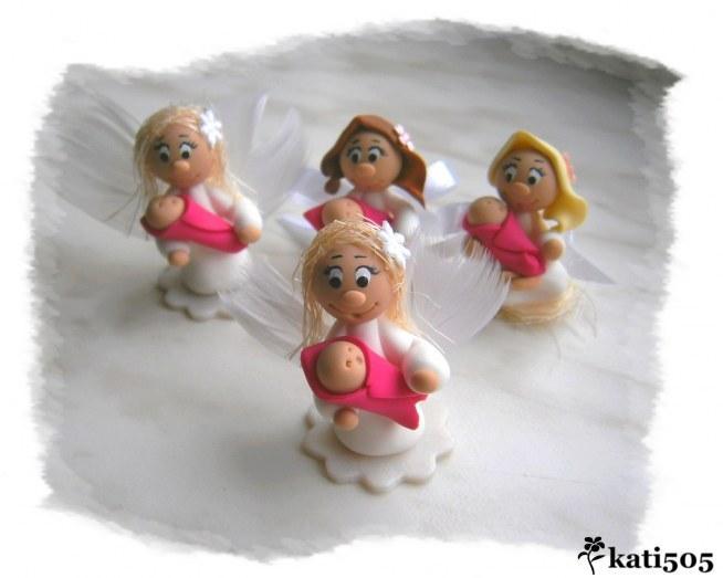 Aniołeczki - podziękowania dla gości na Chrzest Św. :)