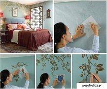 Piękne ozdobienie ściany