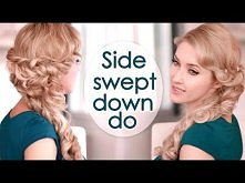 Valentines day hairstyle. Romantic half up half down with curls tutorial