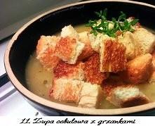 Rozgrzewająca zupa cebulowa...
