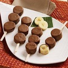 Bananowo-czekoladowe szaszłyki