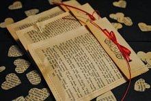 walentynki koperty z książk...
