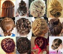 Śliczne fryzurki