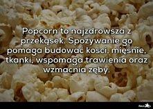 zaczynam jeść więcej popcornu