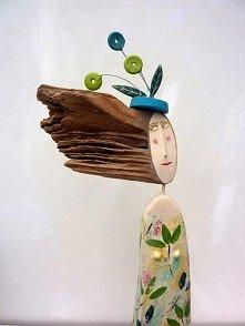 drewniana figura handmade b...
