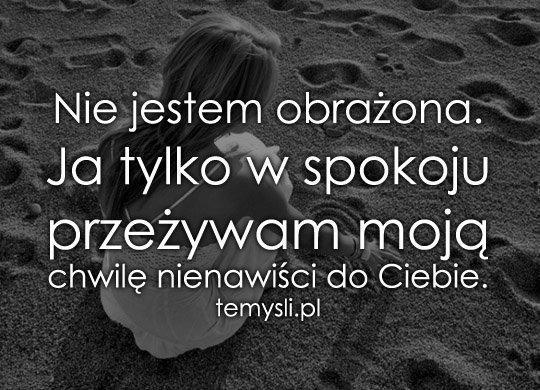 Od Miłości Do Nienawiści Jeden Krok Na Fotografie Cytaty Zszywkapl