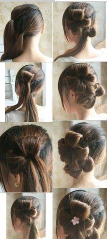 kwiatki z włosów