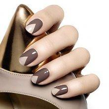 Beżowe paznokcie, wzory