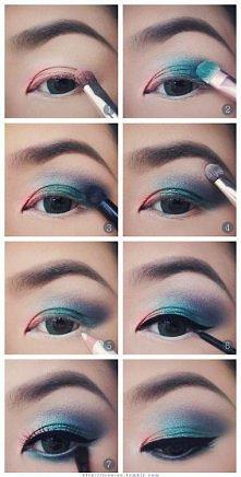 Makijaż dla małych oczu w o...