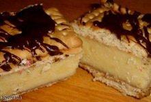 Napoleonka bez pieczenia Składniki: mleko [5 szklanek] cukier [1 szklanka] mąka pszenna [1 szklanka] margaryna [30 dag] cukier waniliowy [1 op.] herbatniki [5 op.] (mogą być kra...