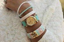 mint, miętowy, biżuteria, zegarek, watch, pastele, dodatki