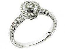 mój wymarzony pierścionek zaręczynowy <3 Pierścionek z białego złota z brylantami   Apart