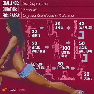 Ćwiczenia na nogi w 15 minut <3