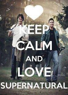 keep calm and love SUPERNAT...