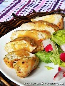 Pierś z kurczaka w sosie czosnkowym  Składniki na 4 porcje:  4 filety z piers...