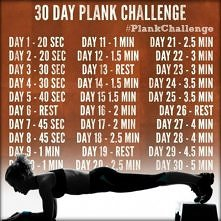 Wyzwanie - plank (deska) - 30 dni!  od 20 s do 5 min. :)