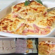 LASAGNA z chleba ... Huummmm!   składniki:  1 opakowanie chleba tostowego Śmi...