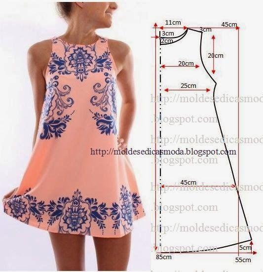 sukienka- wykrój