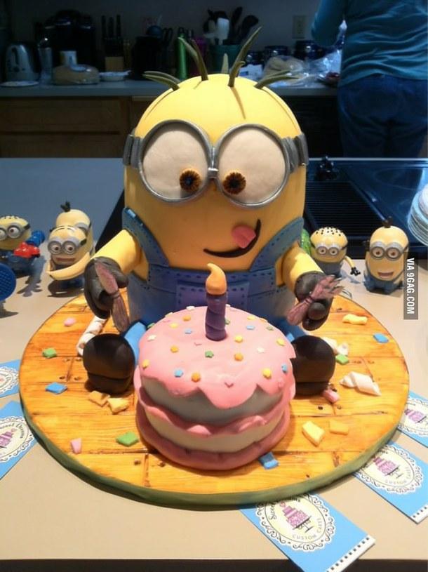 Birthday cake .
