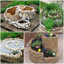 diy, spiral herb garden, instructions