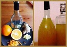 Zimowa nalewka pomarańczowa z imbirem i goździkami