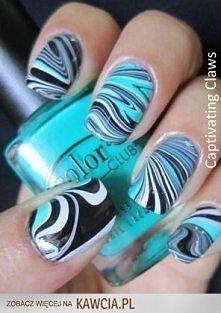 Paznokcie Metodą Wodną ♥ Jak Zrobić paznokcie tą metodą? Pomaluj paznokcie la...