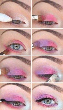 Pink makijaż :)